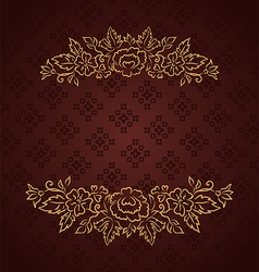 Vintage design for greeting card - vector