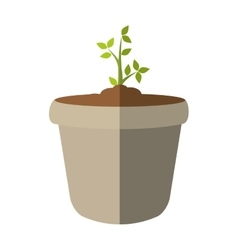 Plant and pot icon nature design graphic vector