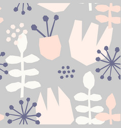 abstract floral pattern vector image vector image
