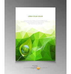 Abstract template brochure for business vector