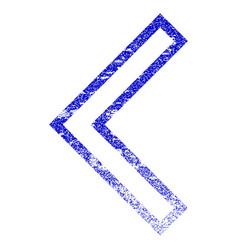 Arrowhead left grunge textured icon vector