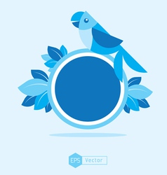 blue Bird Sign 2 vector image