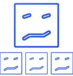 Blue line fear logo design set vector