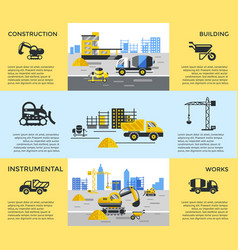 Digital blue yellow construction vector