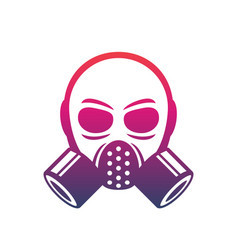 Gas mask icon sign over white vector