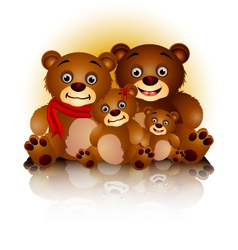 happy bear family in harmony and love vector image vector image