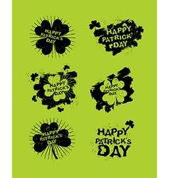 Happy patricks day set of emblems logos for irish vector