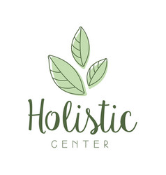 Holistic center logo symbol vector