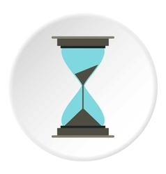 Hourglass icon flat style vector