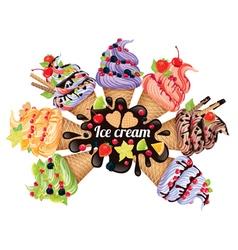Ice cream different vector