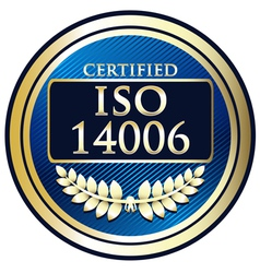 ISO 14006 vector image vector image