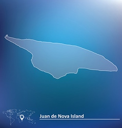 Map of juan de nova island vector