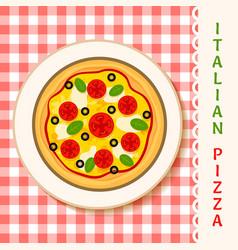 margherita pizza vector image vector image