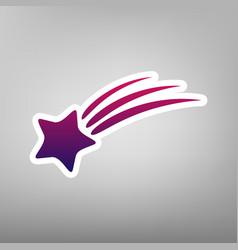 Meteor shower sign purple gradient icon vector