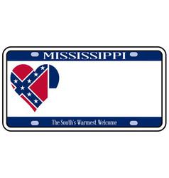 Mississippi license plate vector