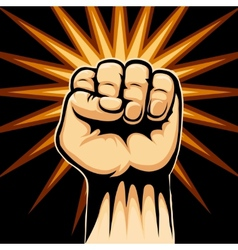 Raised fist symbol vector
