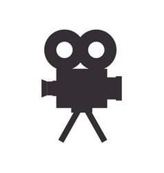 Retro video camera icon vector