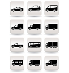 Road transport icons set vector image