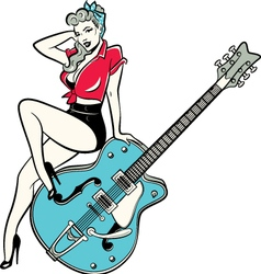 Rockabilly Pinup vector image