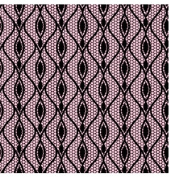 Seamless black lace pattern vector