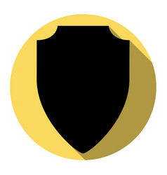 Shield sign flat black icon vector
