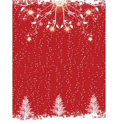 silhouette christmas trees vector image vector image