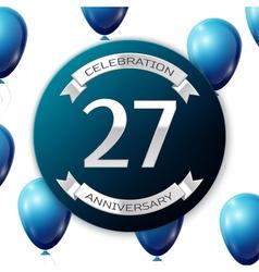 Silver number twenty seven years anniversary vector