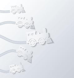 Steam locomotives move forward vector