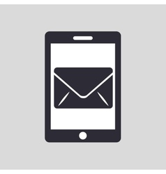 Tablet hand hold with email envelope vector