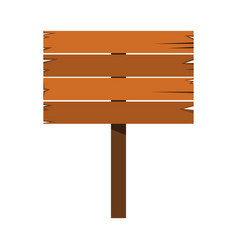 wood sign in white background vector image