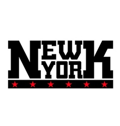 T shirt typography new york stars vector