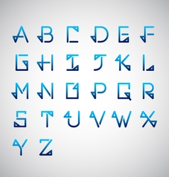 Calligraphy alphabet design vector