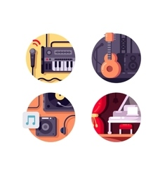Music equipment and intstrument vector
