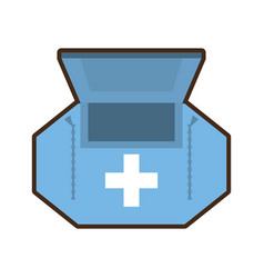 First aid kit healthcare medical vector