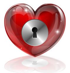 Heart lock vector