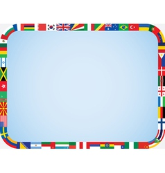 Flags frame with rounded corners vector