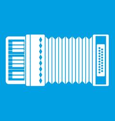 Accordion icon white vector