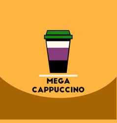 Flat icon design collection mega cappuccino vector
