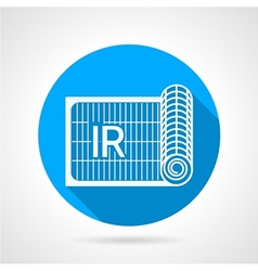Blue flat icon for ir heated floor vector