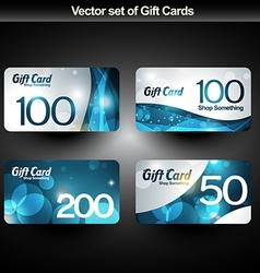 Shiny gift cards vector