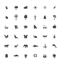 Eco icons set on white background vector