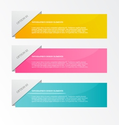 Infographic template for business web design vector