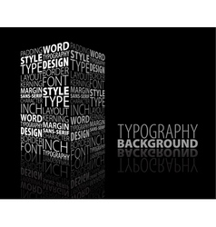 Typography building vector