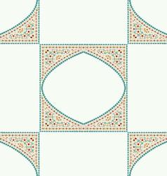 Geometric corner frame pattern ethnic tile vector image
