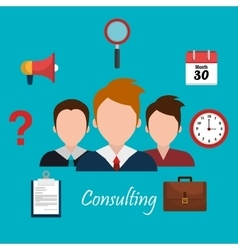 Business consulting design vector