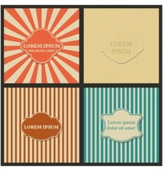Set of backgrounds with frame vector image