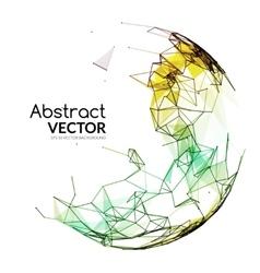 Abstract colorful sphere futuristic techno vector