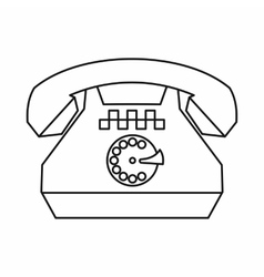 Taxi phone icon outline style vector