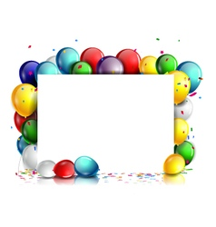 colorful Birthday background with blank sign vector image