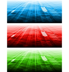 Abstract bright banners vector image vector image